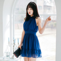 Dark Blue Sleeveless Dress