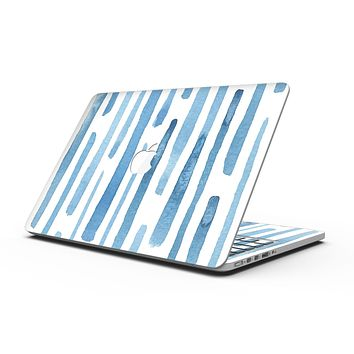 Blue Abstract WaterColor Strokes - MacBook Pro with Retina Display Full-Coverage Skin Kit