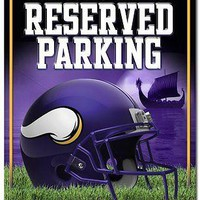 "MINNESOTA VIKINGS 8.5""x11"" METAL RESERVED PARKING SIGN BRAND NEW RICO INDUSTRIES"