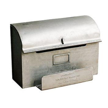 Handmade Geshmack Metal Mailbox with Letter / Newspaper Stand