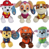 1pcs New 20cm Puppy Paw Patrol Dogs Plush Toys for Children Gift Brinquedos for Boy Girls 6 Dogs
