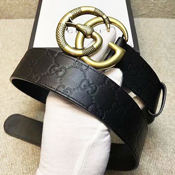 GUCCI New fashion snake letter buckle more letter leather couple belt