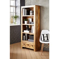 Light Goa Bookcase in Natural Mango | Bookcases & Cabinets | George at ASDA
