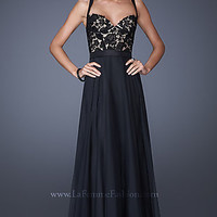 Sleeveless Lace Prom Dress by La Femme