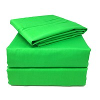 Tache Cotton Lime Green Fitted Sheet (BS3PC-G)