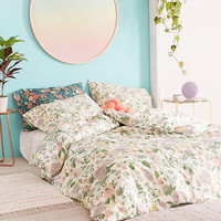 Amara Floral Duvet Cover   Urban Outfitters