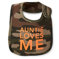 Auntie Loves Me Teething Bib