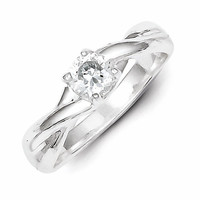 Sterling Silver CZ Promise Ring