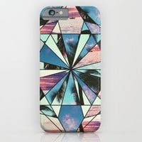 Summer Palm Tree Mosaic iPhone & iPod Case by Raw Sugar