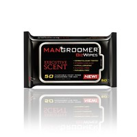 MANGROOMER Biz Wipes Flushable Moist Personal Wipes Engineered for Men, Executive Scent, 50 Count Packs (Case of 6) 300 Wipes Total | deviazon.com