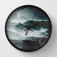Winter Mountains Wall Clock by Cafelab