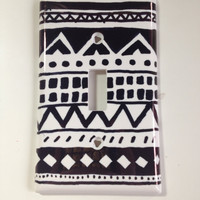 Aztec Print Light Switch Cover