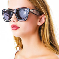 Ksubi Skeleton Sunglasses Black Clear 1