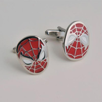 Dashing Spiderman Cufflinks with Personalized Case