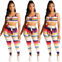 Champion Newest Fashion Women Vest Pants Two-Piece