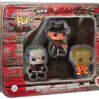 Funko Pocket POP! Horror Freddy, Jason, Sam Vinyl Mini Figure Tin 3-Pack #11