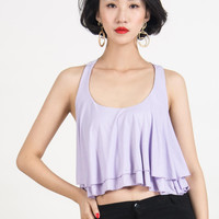 Purple Layered Cropped Vest