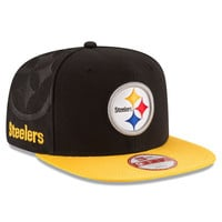 NFL Pittsburgh Steelers New Era Black 2016 Sideline Official 9Fifty Snapback Hat
