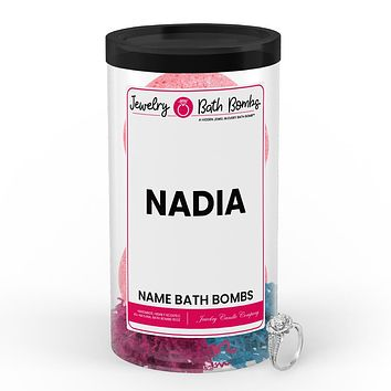 NADIA Name Jewelry Bath Bomb Tube