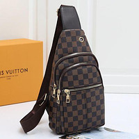 LV Louis Vuitton men's and women's canvas waist bag chest bag shoulder bag
