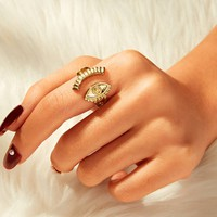 Eye Decor Cuff Ring 1pc