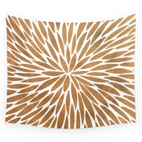 Society6 Rose Gold Burst Wall Tapestry