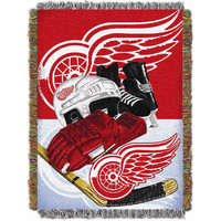 Detroit Red Wings NHL Woven Tapestry Throw Blanket (Home Ice Advantage) (48x60)