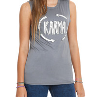 Karma Arrow Loop Girls Muscle Top