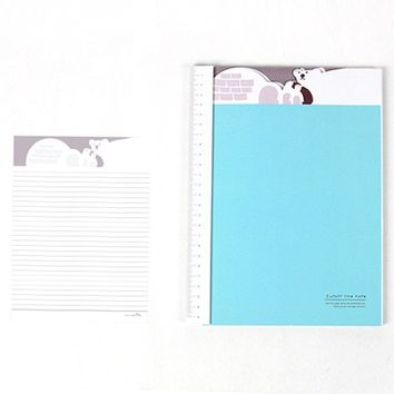 Adorable Polar Bear Patterned Lined Notebook Notepad | Cute School Supplies
