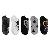 Disney Kingdom Hearts No-Show Socks 5 Pair