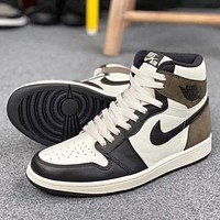 Air Jordan 1 High OG Dark Mocha High Top Sneakers Basketball Shoes-1