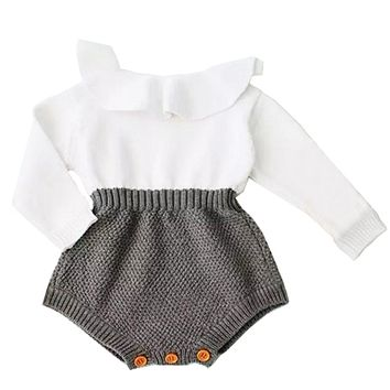Newborn Baby Girl Clothing Rompers Wool Knitting