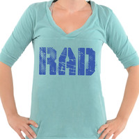 Rad - Football V-Neck Tee