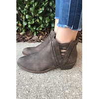 Cocoa Booties- Brown