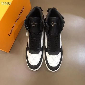 lv louis vuitton men fashion boots fashionable casual leather breathable sneakers running shoes 629