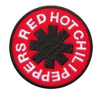 RED Hot Chili Peppers Logo Iron On Sew On Embroidered Patch By MNC Shop.
