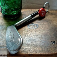 Golf Club Bottle Opener -- Rare Forged Spalding 'Top-Flite' 6 Iron -- Golf Gift