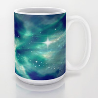 Blue, Sky, Night, Clouds, Stars, Supernova - Ceramic Mug, 2 Sizes Available - Kitchen, Bathroom, New Home, Gift - Made To Order - SN#83