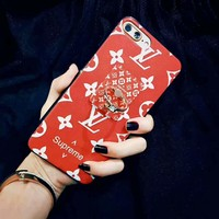 LV Supreme red Fashion Sale iPhone Phone Cover Case For iphone 6 6s 6plus 6s-plus 7 7p