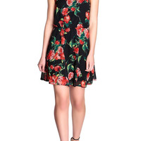Rose Print Dress-FINAL SALE