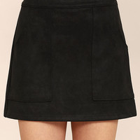 Simply Perf Black Suede Mini Skirt
