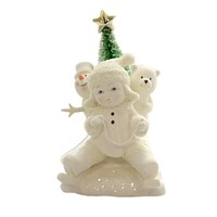 Dept 56 Snowbabies Gold Star Delivery Christmas Snowman - 6005767