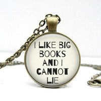 I Like Big Book and I Cannot Lie Necklace