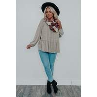 Fall Breeze Top: Taupe