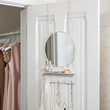 Over The Door Mirror With Storage