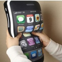 Lujex (TM) iPhone 4 Style Shaped Pillow Cushion iPhone Plush Toy 16""
