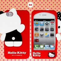 Premium Hello Kitty Silicone Case For iPhone 4/4S and US Seller, Shipping in 24 hours-Red