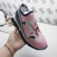 Dolce & Gabbana D&G Casual Shoes Leather Leisure Comfortable Sneaker DG shoes boots pink