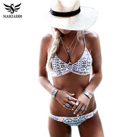 NAKIAEOI 2017 Sexy Bikinis Women Swimsuit Push Up Swimwear Female Brazilian Bikini set Bandeau Summer Beach Bathing Suit Biquini