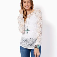 Kasen Lace Top | Fashion Apparel & Clothing - Rodeo | charming charlie